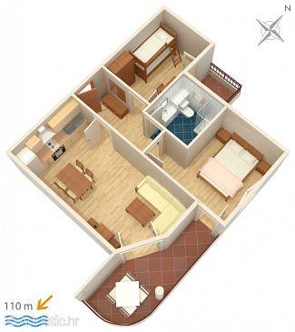 Apartment A-3193-e - Apartments Tučepi (Makarska) - 3193
