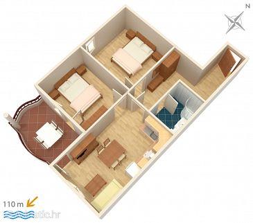 Apartment A-3193-g - Apartments Tučepi (Makarska) - 3193