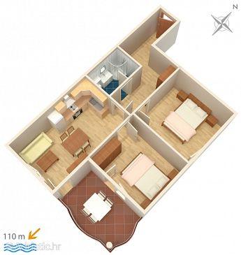 Apartment A-3193-j - Apartments Tučepi (Makarska) - 3193