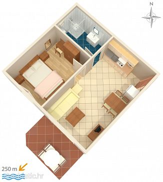 Apartment A-3210-b - Apartments Palit (Rab) - 3210