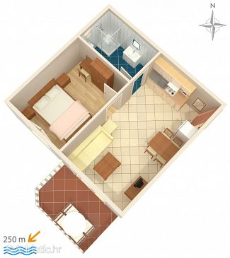 Apartment A-3210-e - Apartments Palit (Rab) - 3210