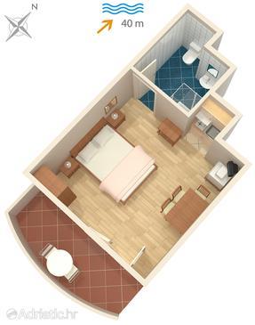 Studio flat AS-325-a - Apartments Neviđane (Pašman) - 325