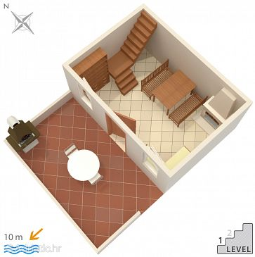 House K-3264 - Vacation Rentals Vinodarska (Lošinj) - 3264