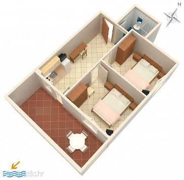 Apartment A-3268-d - Apartments Petrčane (Zadar) - 3268