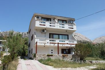 Property Metajna (Pag) - Accommodation 3304 - Apartments near sea with pebble beach.