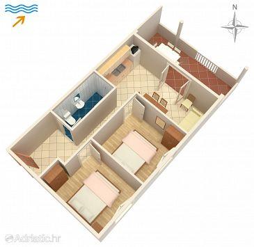 Kraj, Plan u smještaju tipa apartment, dopusteni kucni ljubimci i WIFI.