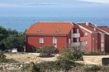 Povljana, Pag, Property 3556 - Apartments with pebble beach.