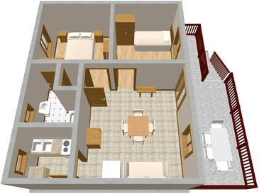 Apartament A-386-a - Kwatery Valun (Cres) - 386