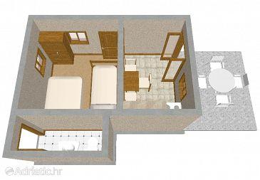 House K-394 - Vacation Rentals Uvala Ripišće (Dugi otok) - 394