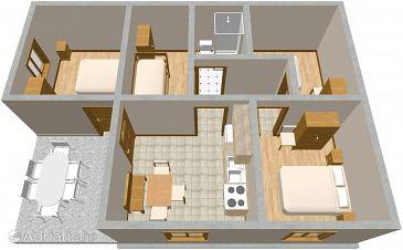House K-397 - Vacation Rentals Krknata (Dugi otok - Krknata) - 397