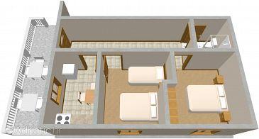 Krknata, Plan kwatery w zakwaterowaniu typu house, dopusteni kucni ljubimci.