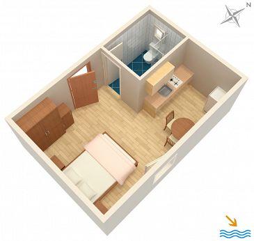 Studio flat AS-4025-a - Apartments Vrboska (Hvar) - 4025