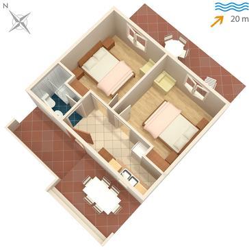 Apartament A-4044-a - Apartamenty Uvala Torac (Hvar) - 4044