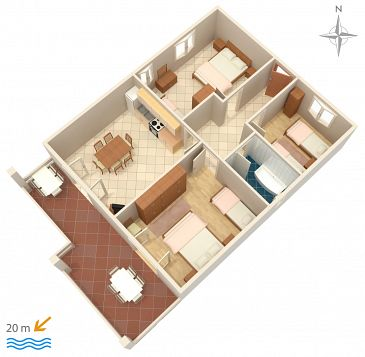 Apartment A-4055-a - Apartments Stara Novalja (Pag) - 4055