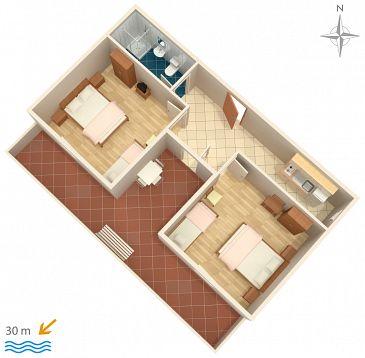 Apartament A-4065-b - Kwatery Zubovići (Pag) - 4065