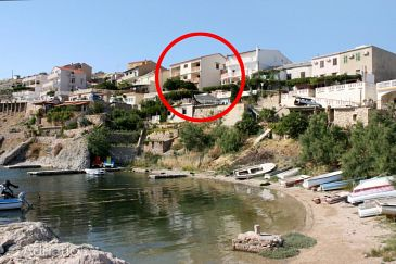 Zubovići, Pag, Property 4066 - Apartments and Rooms blizu mora with pebble beach.