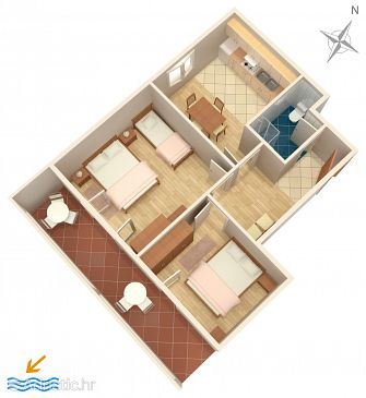 Apartment A-4067-a - Apartments and Rooms Novalja (Pag) - 4067