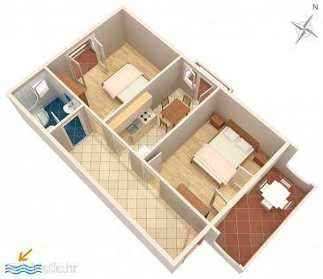 Apartment A-4067-b - Apartments and Rooms Novalja (Pag) - 4067