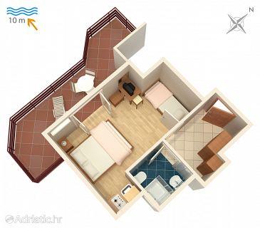 Studio flat AS-4071-b - Apartments Stara Novalja (Pag) - 4071