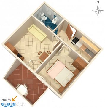 Apartment A-4096-e - Apartments Potočnica (Pag) - 4096
