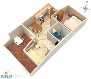 Apartment A-4098-a - Apartments Mandre (Pag) - 4098