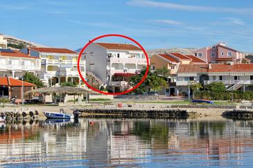 Kustići, Pag, Property 4104 - Apartments blizu mora with pebble beach.