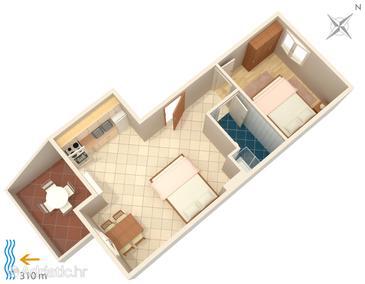 Apartment A-4115-c - Apartments Metajna (Pag) - 4115