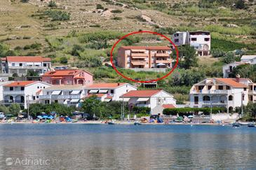 Metajna, Pag, Property 4115 - Apartments with sandy beach.