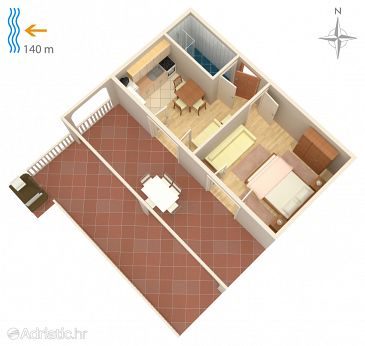 Apartment A-4116-b - Apartments Metajna (Pag) - 4116