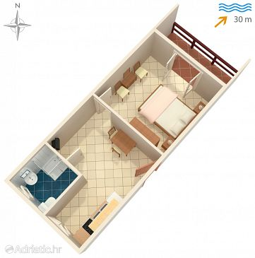 Apartment A-4119-a - Apartments Pag (Pag) - 4119