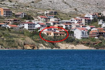 Property Pag (Pag) - Accommodation 4119 - Apartments near sea.