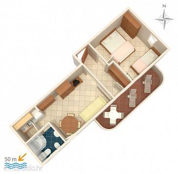 Zubovići, Plan kwatery u smještaju tipa apartment, dopusteni kucni ljubimci i WIFI.
