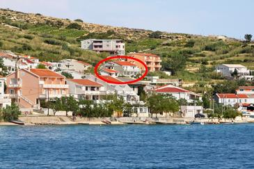 Property Metajna (Pag) - Accommodation 4126 - Apartments with sandy beach.