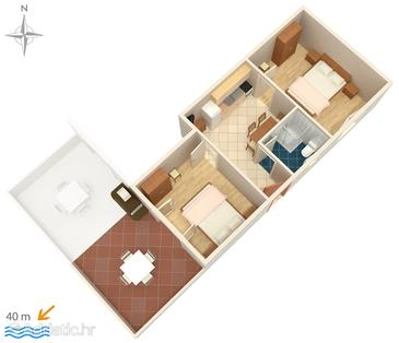 Apartment A-4138-b - Apartments Stara Novalja (Pag) - 4138