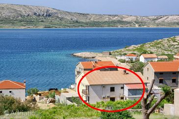 Property Zubovići (Pag) - Accommodation 4141 - Rooms near sea with sandy beach.
