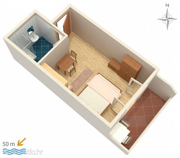 Studio flat AS-4149-d - Apartments Pag (Pag) - 4149