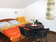 Kornić, Bedroom u smještaju tipa studio-apartment, dostupna klima i WIFI.