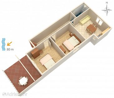 Apartment A-4150-a - Apartments Metajna (Pag) - 4150