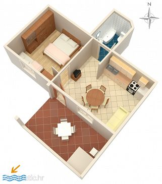 Apartment A-4151-a - Apartments Stara Novalja (Pag) - 4151