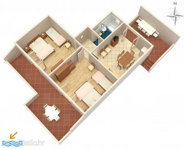 Apartment A-4151-b - Apartments Stara Novalja (Pag) - 4151