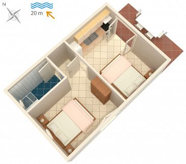 Apartament A-4168-c - Apartamenty Bilo (Primošten) - 4168