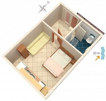 Studio AS-4168-a - Apartamenty Bilo (Primošten) - 4168