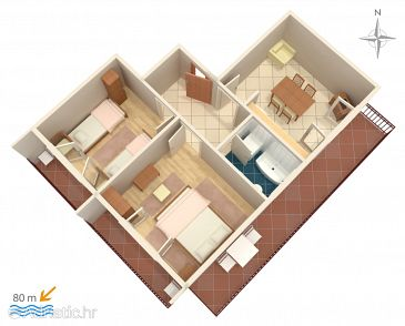 Apartment A-4179-b - Apartments and Rooms Vodice (Vodice) - 4179
