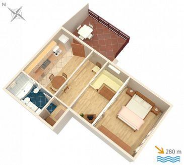 Apartament A-4181-b - Apartamenty Vodice (Vodice) - 4181