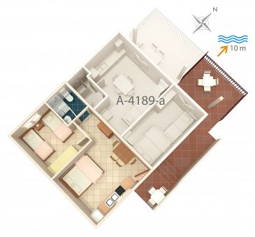 Apartament A-4189-b - Apartamenty Bilo (Primošten) - 4189