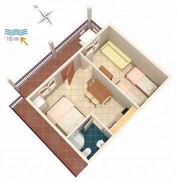 Apartament A-4189-c - Apartamenty Bilo (Primošten) - 4189