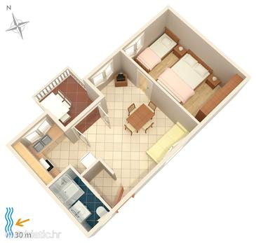 Apartment A-4194-a - Apartments Brodarica (Šibenik) - 4194