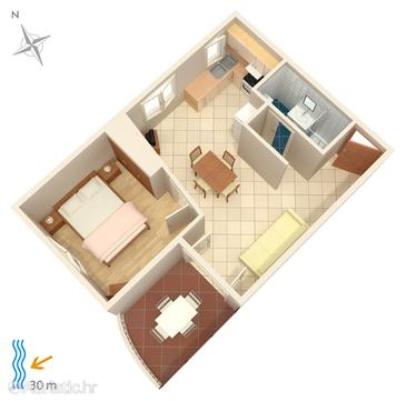 Apartment A-4194-b - Apartments Brodarica (Šibenik) - 4194