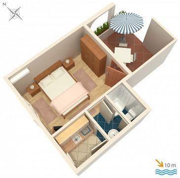 Studio AS-4198-a - Apartamenty Vodice (Vodice) - 4198
