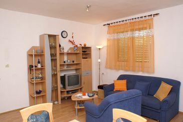 Vrgada, Living room u smještaju tipa apartment, dostupna klima i dopusteni kucni ljubimci.